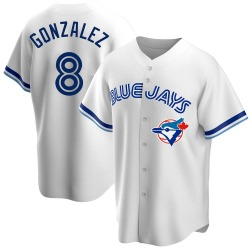 Alex Gonzalez Toronto Blue Jays Men's Replica Home Cooperstown Collection Jersey - White