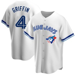 Alfredo Griffin Toronto Blue Jays Men's Replica Home Cooperstown Collection Jersey - White