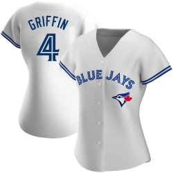 Alfredo Griffin Toronto Blue Jays Women's Authentic Home Jersey - White