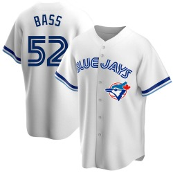 Anthony Bass Toronto Blue Jays Men's Replica Home Cooperstown Collection Jersey - White