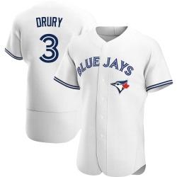 Brandon Drury Toronto Blue Jays Men's Authentic Home Jersey - White