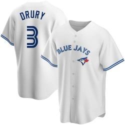 Brandon Drury Toronto Blue Jays Men's Replica Home Jersey - White