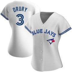 Brandon Drury Toronto Blue Jays Women's Authentic Home Jersey - White
