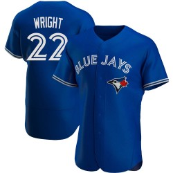 Brett Wright Toronto Blue Jays Men's Authentic Alternate Jersey - Royal