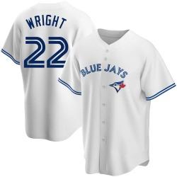Brett Wright Toronto Blue Jays Men's Replica Home Jersey - White