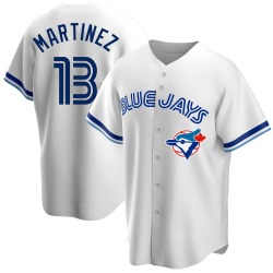 Buck Martinez Toronto Blue Jays Men's Replica Home Cooperstown Collection Jersey - White