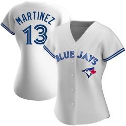 Buck Martinez Toronto Blue Jays Women's Authentic Home Jersey - White