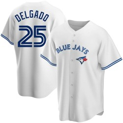 Carlos Delgado Toronto Blue Jays Men's Replica Home Jersey - White