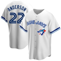 Chase Anderson Toronto Blue Jays Youth Replica Home Cooperstown Collection Jersey - White