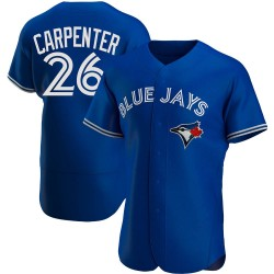Chris Carpenter Toronto Blue Jays Men's Authentic Alternate Jersey - Royal