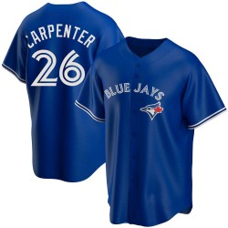 Chris Carpenter Toronto Blue Jays Men's Replica Alternate Jersey - Royal
