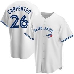 Chris Carpenter Toronto Blue Jays Youth Replica Home Jersey - White