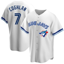 Chris Coghlan Toronto Blue Jays Men's Replica Home Cooperstown Collection Jersey - White