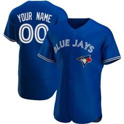 Custom Toronto Blue Jays Men's Authentic Alternate Jersey - Royal