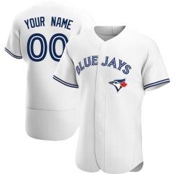 Custom Toronto Blue Jays Men's Authentic Home Jersey - White