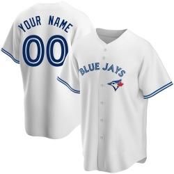 Custom Toronto Blue Jays Men's Replica Home Jersey - White