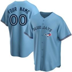 Custom Toronto Blue Jays Men's Replica Powder Alternate Jersey - Blue