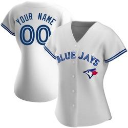 Custom Toronto Blue Jays Women's Authentic Home Jersey - White