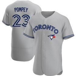 Dalton Pompey Toronto Blue Jays Men's Authentic Road Jersey - Gray
