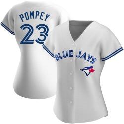 Dalton Pompey Toronto Blue Jays Women's Authentic Home Jersey - White