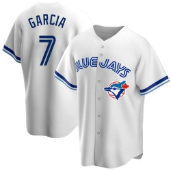 Damaso Garcia Toronto Blue Jays Men's Replica Home Cooperstown Collection Jersey - White