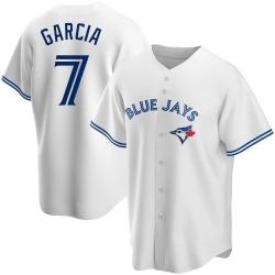 Damaso Garcia Toronto Blue Jays Men's Replica Home Jersey - White