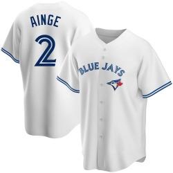 Danny Ainge Toronto Blue Jays Men's Replica Home Jersey - White