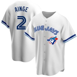 Danny Ainge Toronto Blue Jays Youth Replica Home Cooperstown Collection Jersey - White