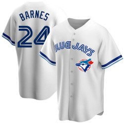 Danny Barnes Toronto Blue Jays Men's Replica Home Cooperstown Collection Jersey - White