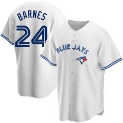Danny Barnes Toronto Blue Jays Men's Replica Home Jersey - White