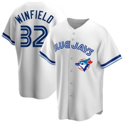 Dave Winfield Toronto Blue Jays Men's Replica Home Cooperstown Collection Jersey - White