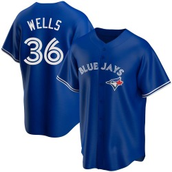 David Wells Toronto Blue Jays Youth Replica Alternate Jersey - Royal