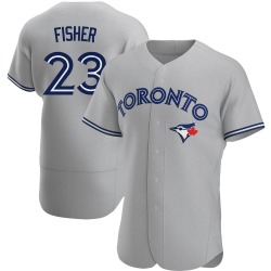 Derek Fisher Toronto Blue Jays Men's Authentic Road Jersey - Gray