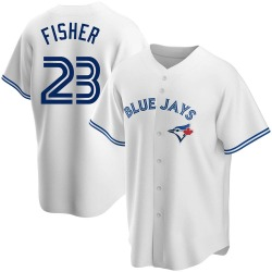 Derek Fisher Toronto Blue Jays Men's Replica Home Jersey - White