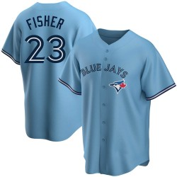 Derek Fisher Toronto Blue Jays Men's Replica Powder Alternate Jersey - Blue