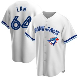 Derek Law Toronto Blue Jays Men's Replica Home Cooperstown Collection Jersey - White