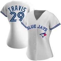 Devon Travis Toronto Blue Jays Women's Replica Home Jersey - White
