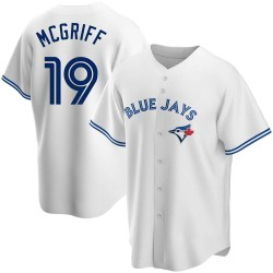 Fred Mcgriff Toronto Blue Jays Men's Replica Home Jersey - White