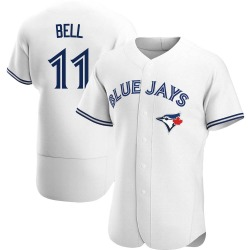 George Bell Toronto Blue Jays Men's Authentic Home Jersey - White