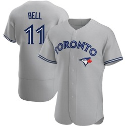 George Bell Toronto Blue Jays Men's Authentic Road Jersey - Gray