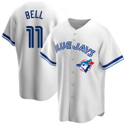 George Bell Toronto Blue Jays Men's Replica Home Cooperstown Collection Jersey - White