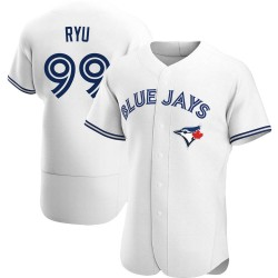 Hyun-Jin Ryu Toronto Blue Jays Men's Authentic Home Jersey - White