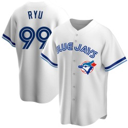 Hyun-Jin Ryu Toronto Blue Jays Men's Replica Home Cooperstown Collection Jersey - White