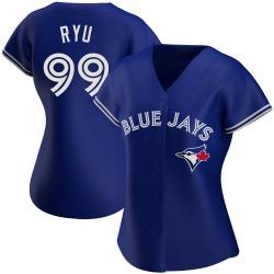 Hyun-Jin Ryu Toronto Blue Jays Women's Authentic Alternate Jersey - Royal