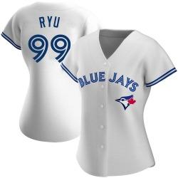Hyun-Jin Ryu Toronto Blue Jays Women's Authentic Home Jersey - White