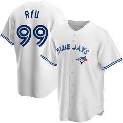 Hyun-Jin Ryu Toronto Blue Jays Youth Replica Home Jersey - White