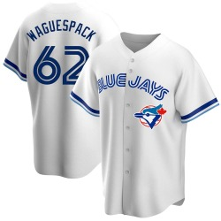Jacob Waguespack Toronto Blue Jays Men's Replica Home Cooperstown Collection Jersey - White