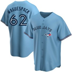Jacob Waguespack Toronto Blue Jays Men's Replica Powder Alternate Jersey - Blue