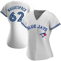 Jacob Waguespack Toronto Blue Jays Women's Authentic Home Jersey - White