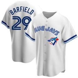 Jesse Barfield Toronto Blue Jays Men's Replica Home Cooperstown Collection Jersey - White